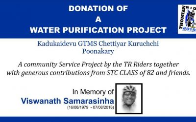 Donation of a Water Purification Project by THOMIAN Riders